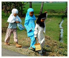 Niñas con hiyab