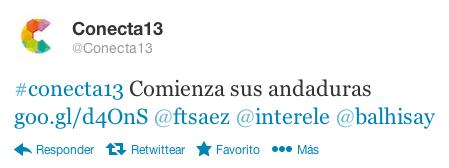 tweet Conecta13
